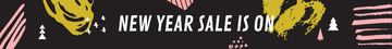 New Year Sale Ad Colorful Paint Blots
