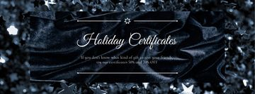 Holiday Gift Certificates Offer Glitter and Velvet in Black