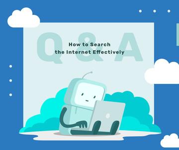 Robot working on laptop