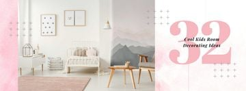 Cozy nursery Interior in pink