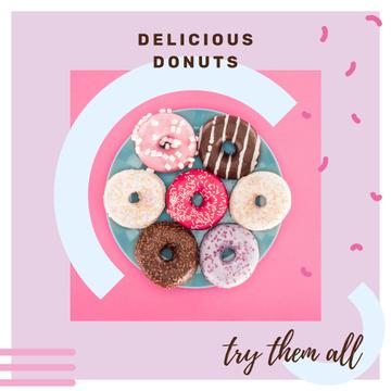 Bakery Ad Sweet Glazed Donuts