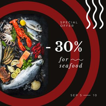 Restaurant Offer Assorted Fish and Seafood