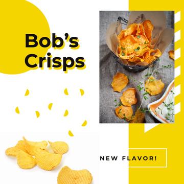 Tasty potato crisps