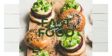 Mouthwatering fast food burgers