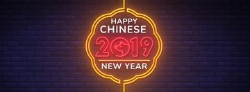 Happy Chinese New Year neon sign
