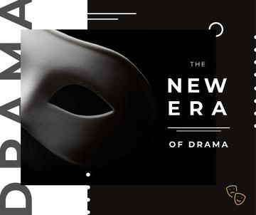 Theatrical Drama white mask