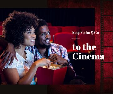 Cinema Invitation Couple watching Film