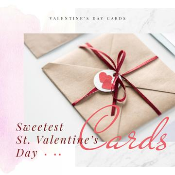 Valentine's Day Envelope with Hearts