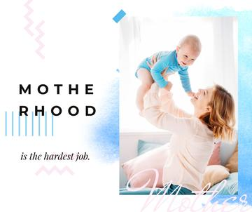 Motherhood Inspiration Mother with Baby in Blue