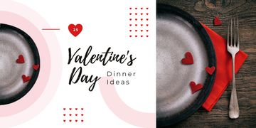 St. Valentine's Day festive table setting