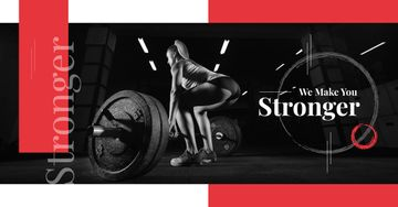 Gym Offer Woman Lifting Barbell