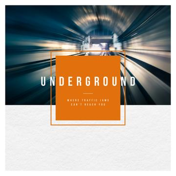 Train in Subway Tunnel