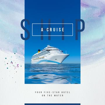 Cruise ship in sea view