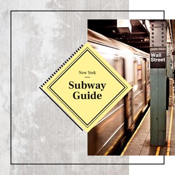 Train in New York subway