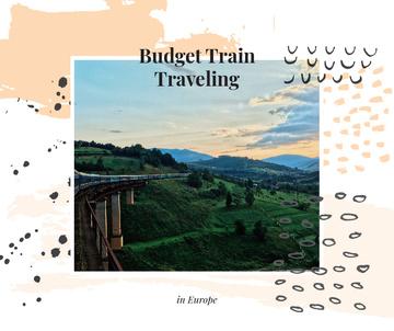 Railways in nature landscape
