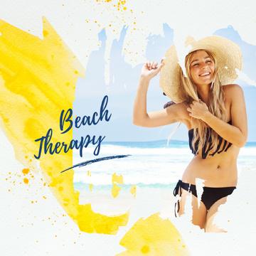 Young Girl in Bikini at the Beach
