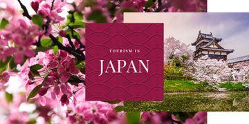 Japanese building and sakura