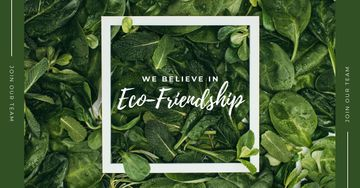 Eco Friendship Concept Green plant leaves