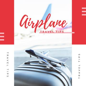 Travel Tips with Toy plane on suitcase