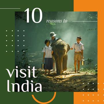 Kids on a walk with elephant