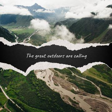 Scenic mountainous landscape