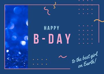 Birthday celebration template