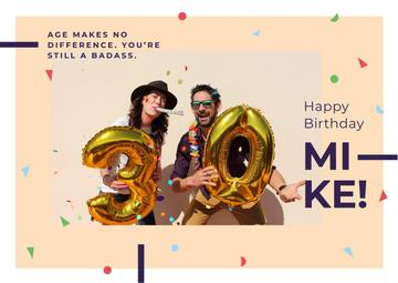 Couple celebrating 30th anniversary