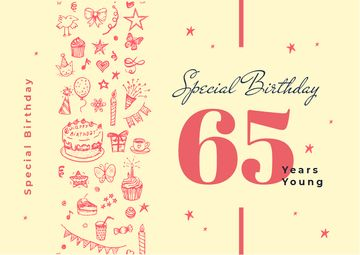 Birthday celebration template