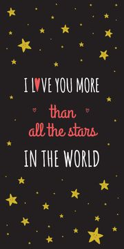 Valentines Love Quote with stars