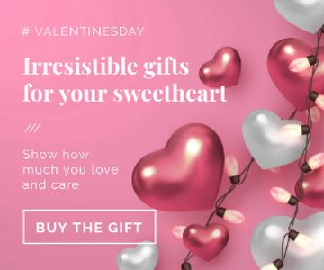 Valentines Gift Offer in pink
