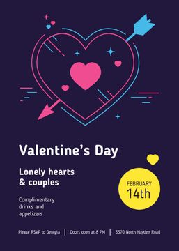 Valentine's Day Party invitation with Heart