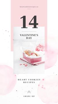 Valentine's Day Heart-Shaped Cookies in Pink box