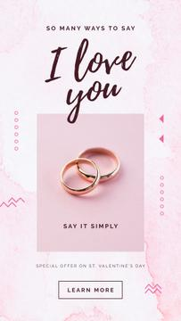 Special Valentine's Offer with Golden Wedding rings