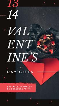 Festive Valentines Day Gift box