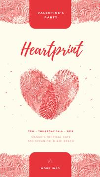 Valentines Heart made by fingerprints