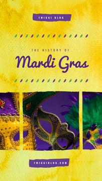 Mardi Gras carnival masks