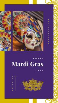 Mardi Gras Greeting Carnival Mask