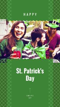 People celebrating Saint Patrick's Day