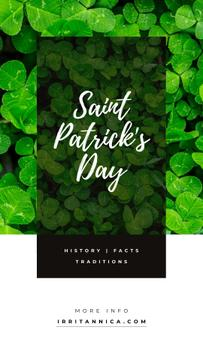 Saint Patrick's Day clover leaves
