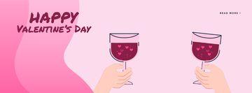 Couple toasting Wine on Valentine's Day