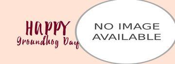 Happy Groundhog Day with sleepy animal