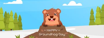 Cute funny animal on Groundhog Day