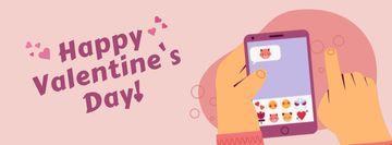 Man sending Valentine's Day messages