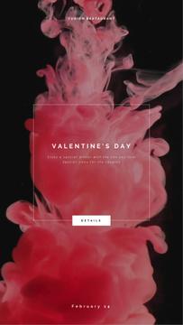 Valentine's Day Inviting Card Pink Ink Splashes