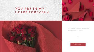 Valentine's Day Bouquet and Envelope