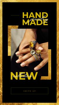 New Jewerly Collection with Woman wearing rings