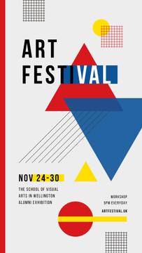 Linear geometric poster