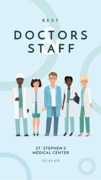 Professional team of medical staff