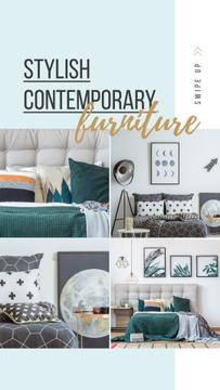 Furniture Ad Cozy bedroom interior