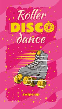 Retro roller skate Party Annoucement